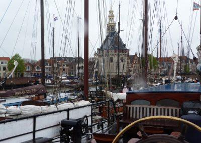 In Hoorn bei Regenwetter