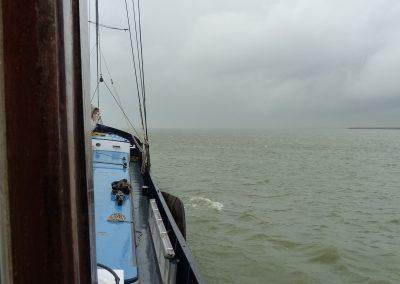 Schlechtes Wetter am ersten Tag mit Kurs Hoorn