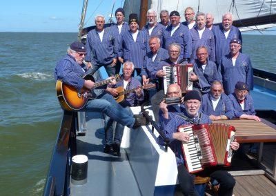 Shanty-Chor Lahnstein unter Segeln auf dem Ijsselmeer 2018