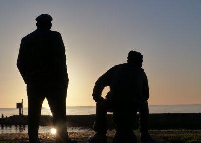 Sonnenaufgang am Ijsselmeer